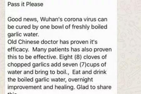 Coronavirus WhatsApp Forward