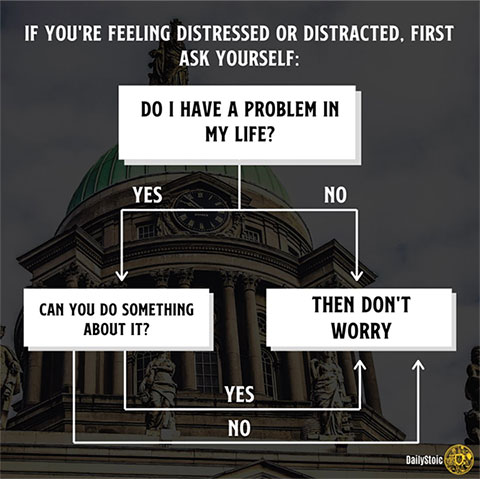 If you're feeling distressed or distracted, first ask yourself: do I have a problem in my life?